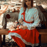 Woman-in-Russian-dress