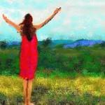 Gioia di vivere (donna con braccia aperte)