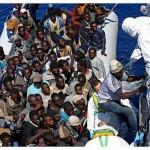 Barcone di immigranti (neri)